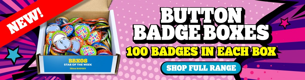 Button Badge Boxes -