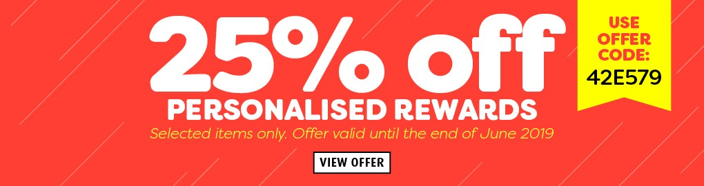 25% OFF Personalised Products -