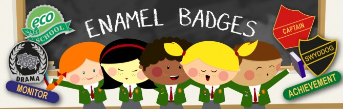 Enamel badge kids hero -