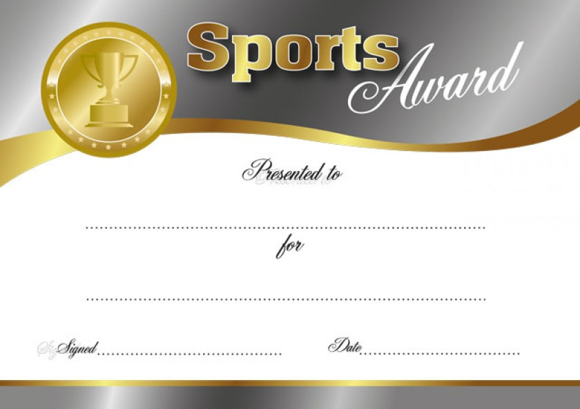 Sports Award certificate – Sports Award Certificates
