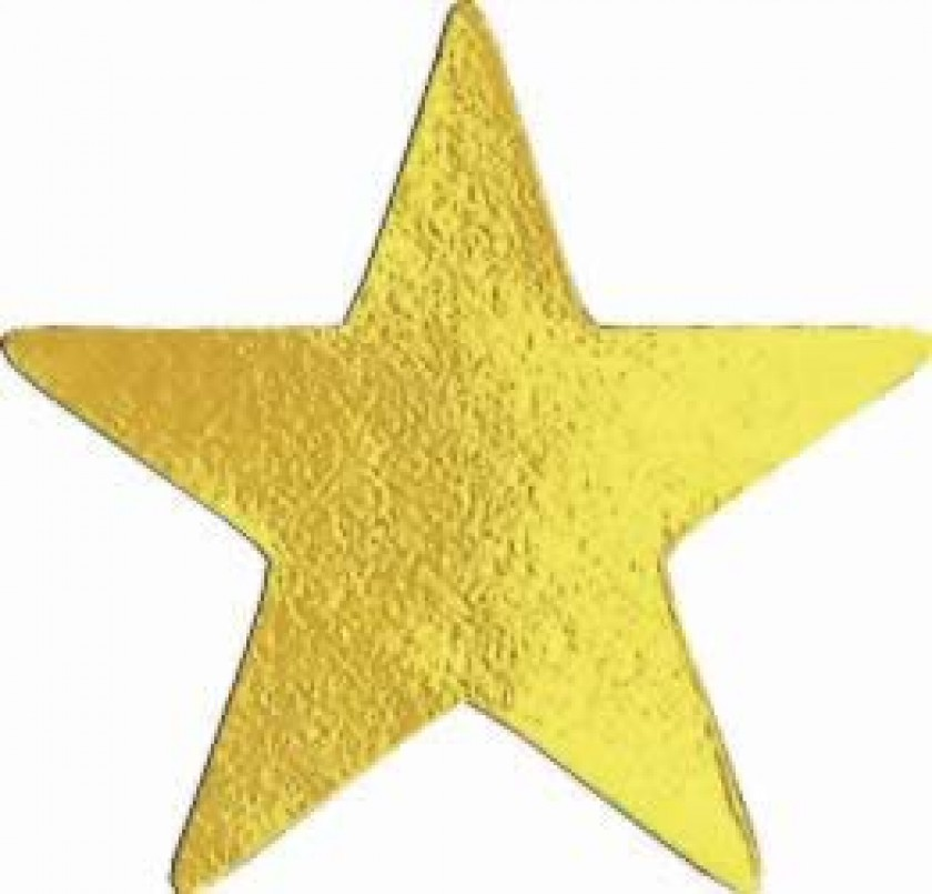 Fresh Metallic gold star sticker | School Merit Stickers RA32