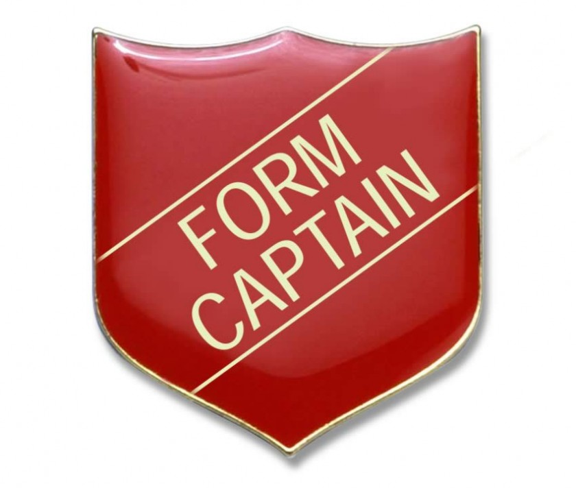FORM CAPTAIN badge red (pack of 5) | School Merit Stickers