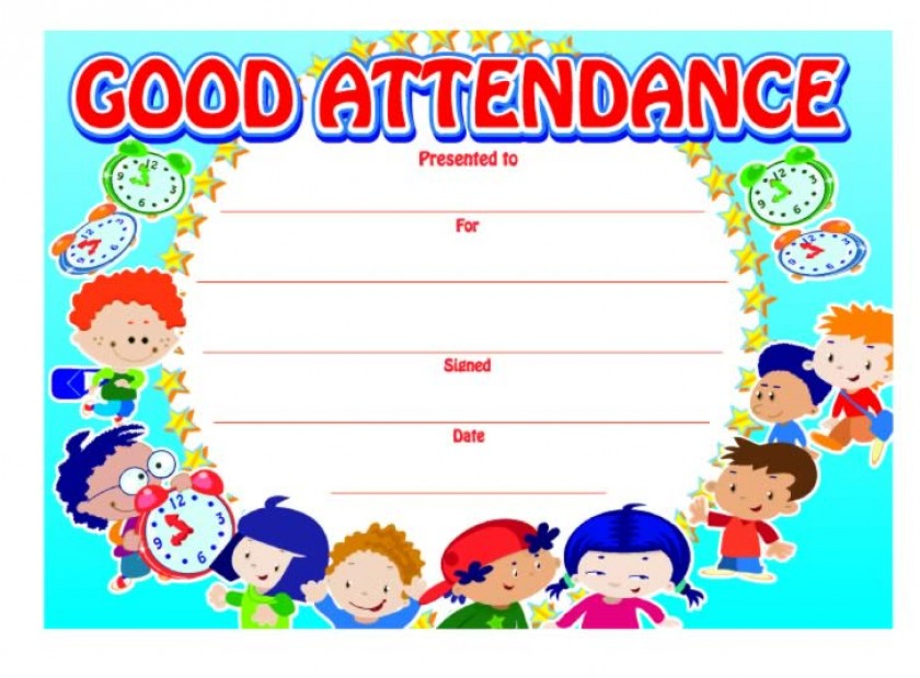 Good attendance certificate | School Merit Stickers
