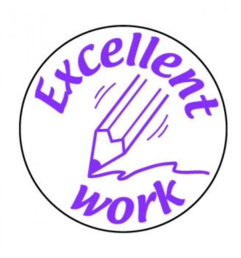 excellent work pencil stamper school merit stickers