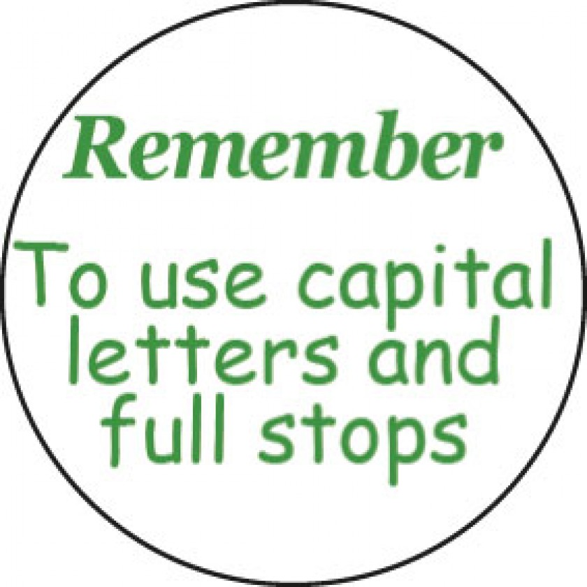 Remember To Use Capital Letters And Full Stops Ster School Merit Stickers: Worksheets Capital Letters And Full Stops At Alzheimers-prions.com