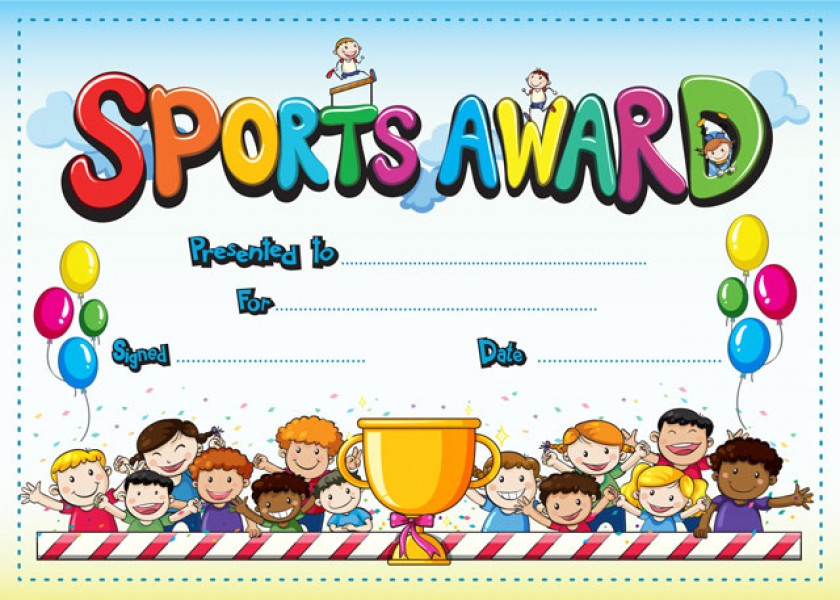 Kids Sports Award certificate – Sports Award Certificates