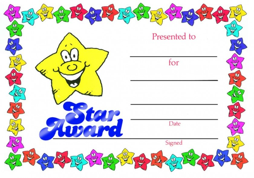 star award certificate school merit stickers