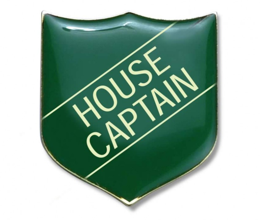 House Captain Badge Green Pack Of 5 School Merit Stickers
