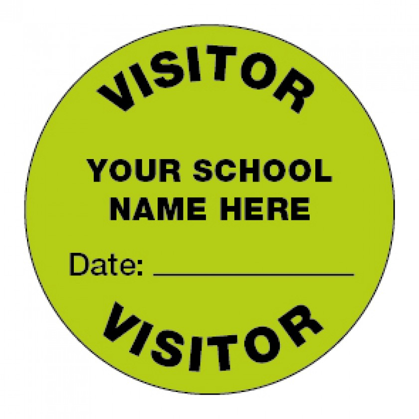 Personalised Visitor Stickers