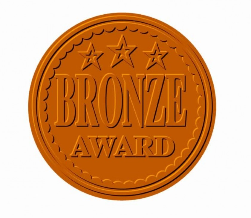 Metallic 'Bronze Award' sticker 43mm