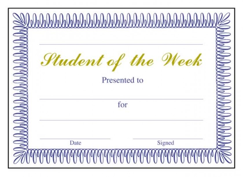 Student Of The Week Classic Certificate School Merit Stickers